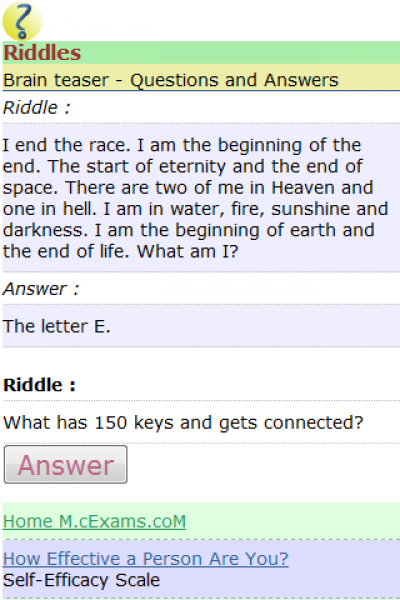 Riddles for Java - Opera Mobile Store
