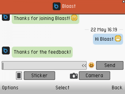 Blaast Chat for Java - Opera Mobile Store