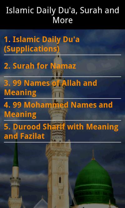 Islamic Daily Dua Surah N More for Java - Opera Mobile Store