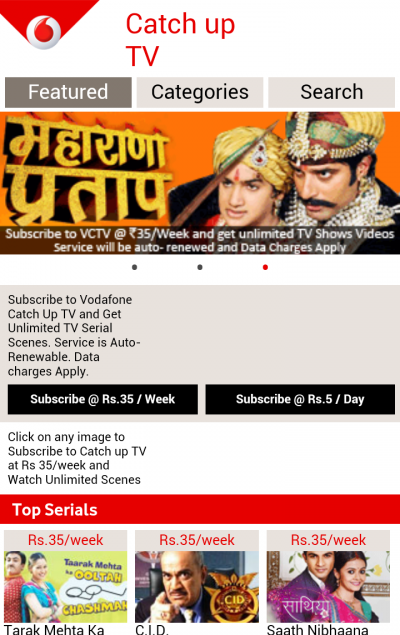 Vodafone Catch Up TV for Java - Opera Mobile Store