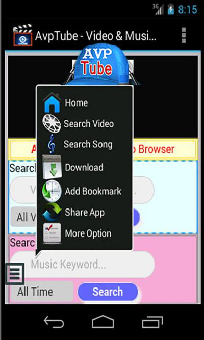 AvpTube - Music & Video Search, Download Play for Java - Opera